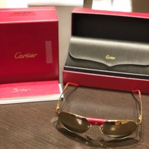 Cartier Gold Plated Santos sunglasses